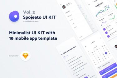 极简主义设计的app ui kit