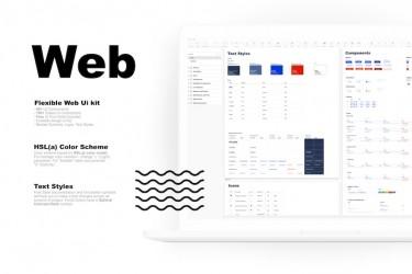 极简设计的网页设计规范组件