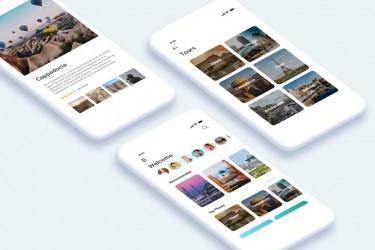 旅行指南app UI工具包