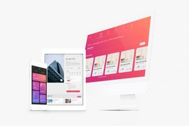 旅行出游网站的界面设计模板