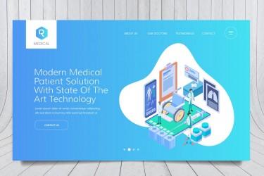 医疗相关的网页banner插图模板