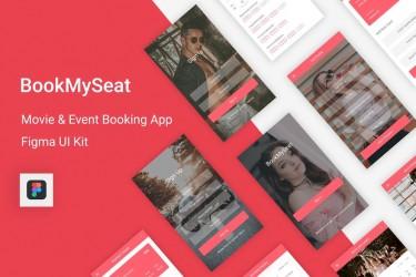 电影和活动预定app ui设计模板