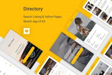创意酒店预定app界面设计模板