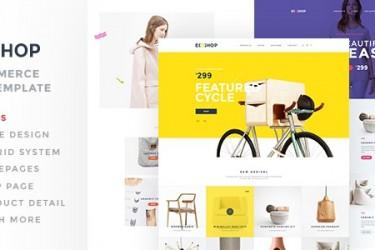 简单的服装电商网站界面设计模板