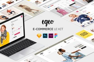 现代时尚的电商网站界面设计模板