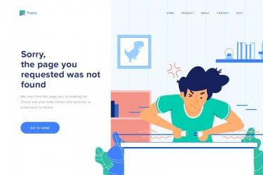 404错误页面的ai插画素材