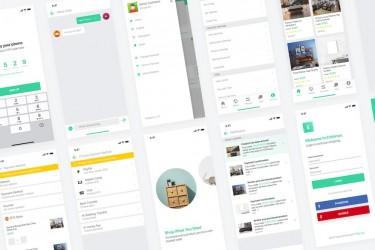 时尚的电商购物app ui设计模板