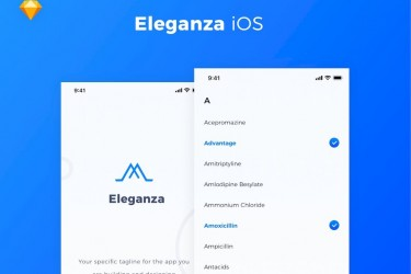 简约实用的综合App UI设计模板