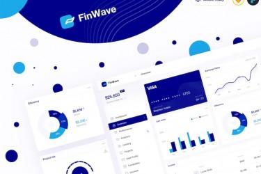 金融财务管理仪表盘UI设计模板