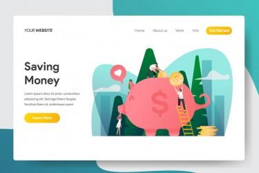 10个金融投资类网页banner插画素材