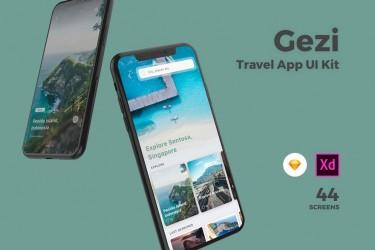 旅游类app ui界面设计模板