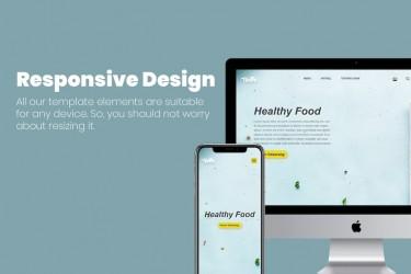 健康食品网站的设计和前端模板