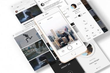 精美的多功能app UI设计模板