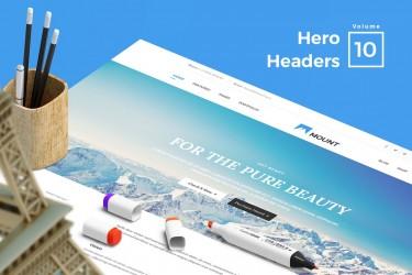 轮播网页的Hero Headers设计模板