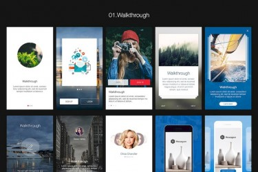 精美的多功能购物app设计模板