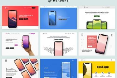 用于app产品展示的网页设计模板