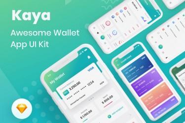 简洁的电子钱包app ui设计模板