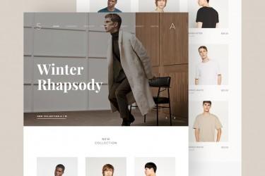 时尚的服装电商网站设计模板