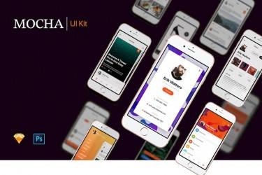 时尚的多功能app UI设计模板