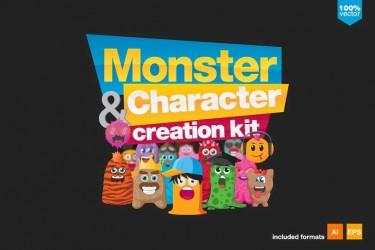 120个有趣的怪物角色创作插画素材