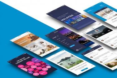 简洁的多用途社交app设计模板