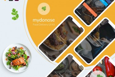 精美的美食外卖app界面设计模板
