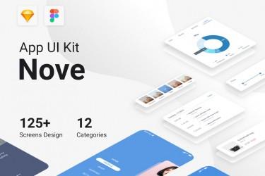 多用途Nove app UI kit素材模板