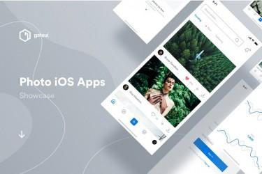 iOS图片共享app ui设计模板