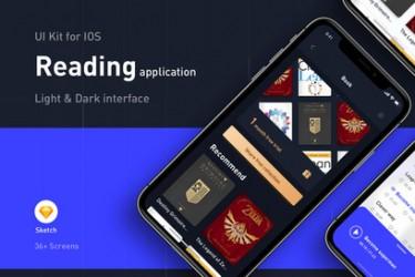 阅读类app界面设计模板