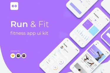 类似keep的健身软件app设计模板
