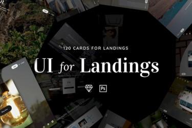 网站着陆页设计组件ui kit