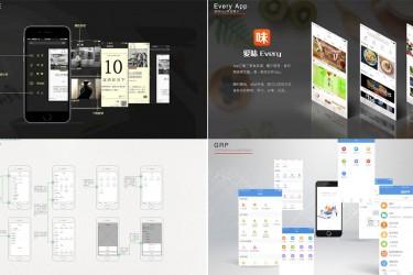 UI设计师作品集样机模板