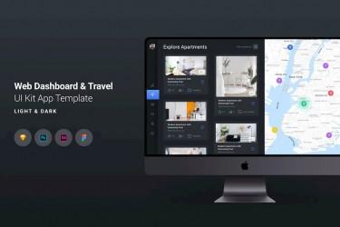 旅行类网站后台界面设计模板