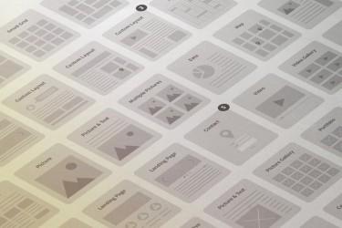 简洁漂亮的网页线框图素材