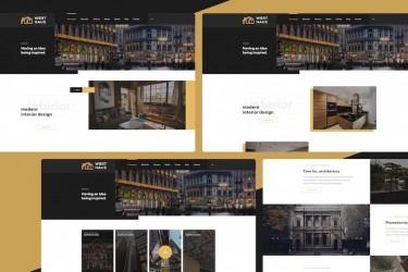 建筑设计工作室网站UI设计模板