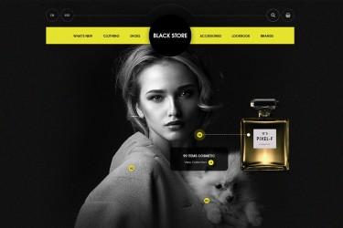 高端时尚的电商网站界面设计模板