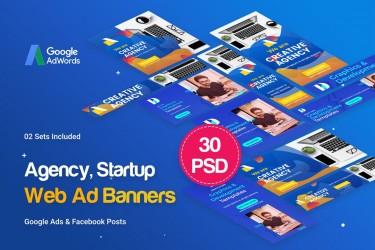 30个创意机构横幅广告设计模板