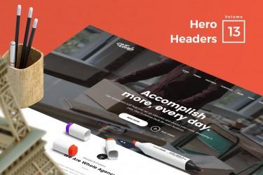 10个创意Hero Headers设计模板