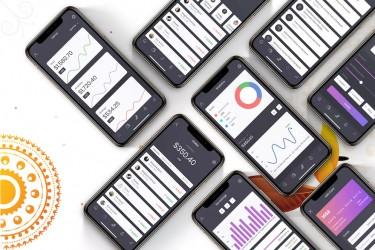 互联网金融app界面设计模板