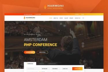 演出活动发布的网站界面设计模板