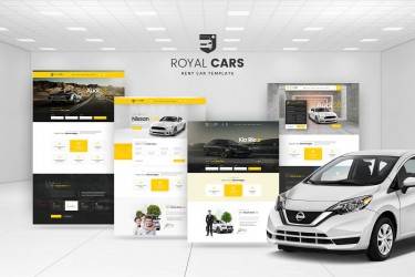 买车租车网站UI界面设计模板