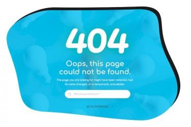 有趣的404网页设计模板
