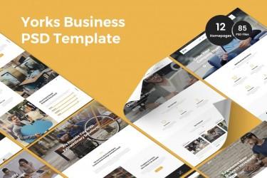 精美多用途的商业网站设计模板