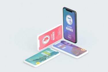 中文版生活规划app ui设计模板