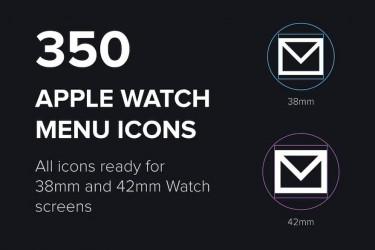 350个Apple Watch菜单矢量图标