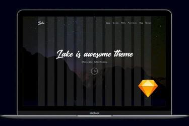 深邃黑色的网站着陆页设计模板