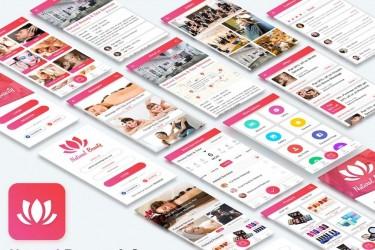 美容和Spa沙龙的App UI设计模板