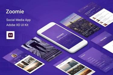 高级紫色社交APP界面设计模板