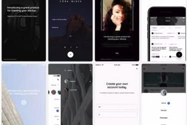 电商、多媒体和社交App UI设计模板