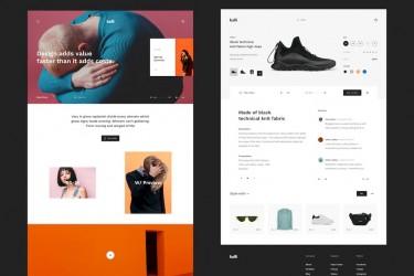 欧美时尚风格的网页ui设计组件